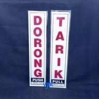 Harga plat akrilik dorong tarik putih acrylic sign | antitipu.com