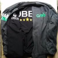 JUAL jaket bahan taslan driver online bolak balik gojek uber grab