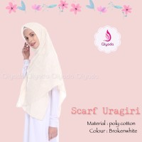 PROMO ORIGINAL Qiyada Scarf Uragiri Broken White hijab kerudung khima
