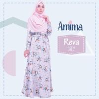 PROMO LIMITED Gamis Amima Reva Dress Grey baju gamis wanita busana mu