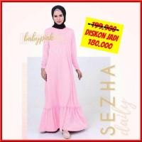TOP PROMO Gamis Amily Sezha Daily Dress Baby Pink baju gamis wanita b