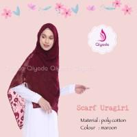 ORIGINAL EXCLUSIVE Qiyada Scarf Uragiri Maroon hijab kerudung khimar