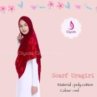 ORIGINAL LIMITED Qiyada Scarf Uragiri Red hijab kerudung khimar jilba