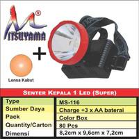 Jual Senter Kepala 1 Led Super Mitsuyama Ms 116 Kota Surabaya Revi Elektronik Tokopedia