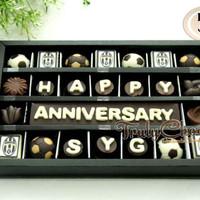 Trulychoco kado cokelat anniversary tema bola juventus