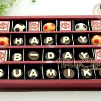 Trulychoco kado cokelat ulang tahun suami tema bola manchester united