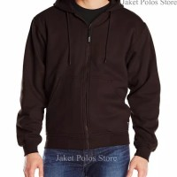 Best seller !!! Jaket Sweater Polos Hoodie Zipper/Resleting Coklat