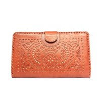 Dompet Tatah L Tan - Kenes Leather Bag
