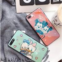 Casing hp Oppo Vivo Xiaomi Iphone DiSNEY Hologram Light Blue Case F5