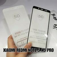 TEMPERED GLASS 5D XIAOMI REDMI NOTE 5 / PRO FULL LEM LAYAR HP CURVE 9H