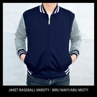 Big Size Jaket Baseball Varsity Polos - Black Xxl - Xxxl