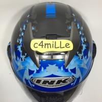 Best Seller...!!! HELM INK CL MAX #6 BLACK BLUE FLUO FULL FACE