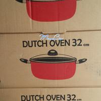 Panci Teflon Dutch Oven SUPRA 32 CM Tutup Kaca