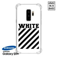 Off White Casing Samsung Galaxy S9+ S9 Plus Anti Crack Case HP