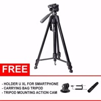 Somita Tripod ST 3520 Hitam Free Aksesories FV09070166