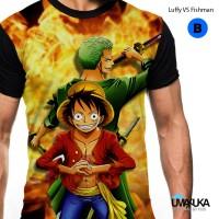 Umakuka - Kaos Baju 3D- Luffy vs fishman one peace