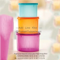 Tupperware Texture Canister Set (3pcs) Ungu Orange Biru