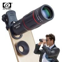 18X Telescope Zoom APEXEL Lensa Ponsel untuk iPhone Samsung