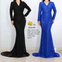 dress pesta - long dress - gown night - prom gown -baju pesta - K0641