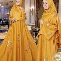 Syari Julia Busui aj Gamis Maxi Dress Muslim Fashion Trendy
