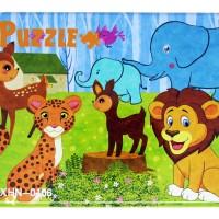 Puzzle Kayu Jigsaw Mix 4 in 1 Tepak Kaleng Mainan Anak Animal PL-108