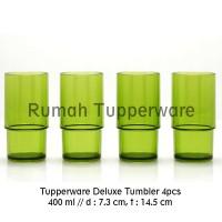 Tupperware Deluxe Tumbler (4pcs Gelas) Hijau