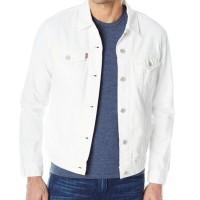 JUAL Jaket Jeans Pria Levis Warna White Putih