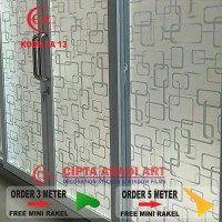 Harga sticker stiker kaca motif minimalist untuk rumah ruko kantor | antitipu.com