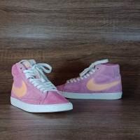 Sepatu Sneakers Nike Women's Blazer High Suede Pink 37 ORIGINAL SECOND