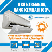 AC Air Screen Cover | Reflektor / Talang / Penahan Hembusan Angin AC