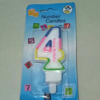 Lilin ulangtahun angka 4