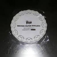 """Alas kue kertas renda, Doyleys, toples kue ROSA, uk. 8,5"""" atau 215mm"""