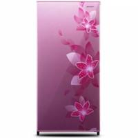 SHARP Kulkas 1D Flower Pink - SJN166FFP / SJ-N166