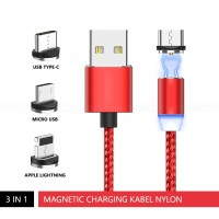 3 in 1 Magnetic Charging Cable MicroUSB Lightning Type C Kabel Charger