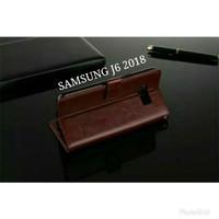 Samsung J6 2018 Flip Cover Sarung Hp Kulit Case Casing Samsung J6