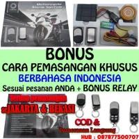 Alarm Motor Double Remote Merk Vinyx + Bonus Cara Pemasangan & Tombol