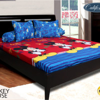 Sprei California 180x200 Mickey Mouse ( King size )