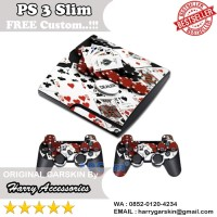 [Original] Garskin Sony PS 3 Slim & 2 Stick Motif Poker