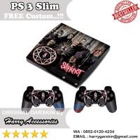 [Original] Garskin Sony PS 3 Slim & 2 Stick Motif Slipknot