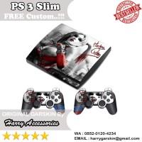 [Original] Garskin Sony PS 3 Slim & 2 Stick Motif Harley Quin