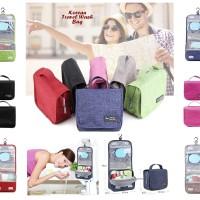 Korean Travel WASH BAG (Tas tempat ksometik dan perlengkapan mandi)