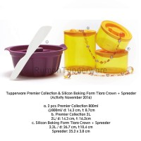 Tupperware Premier Canister Set dengan Silicon Baking