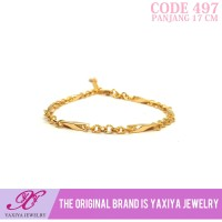 Gelang Rantai Perhiasan imitasi Gold 18k Yaxiya Jewelry 497
