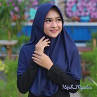 Hijab instan jilbab bergo kaos kerudung instan pet antem ukuran M