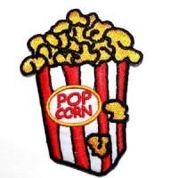 Iron Patch Pop Corn Emblem Bordir Tempel Bukan Renda No Custom Bordir