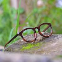 kacamata kayu original model moscot serat asli glossy