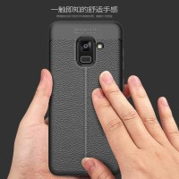 Softcase TPU Leather Texture Slim Cover Case Casing HP Samsung A7 2018