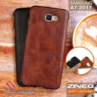 Softcase TPU Leather ZINEQ Slim Cover Case Casing HP Samsung A7 2017