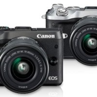 KAMERA MIRRORLESS CANON EOS M6 M 6 KIT 15-45mm IS STM - Hitam