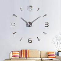 Jam Dinding Raksasa DIY 80-130cm Diameter - 12s003 - silver 8fa7fe3df5